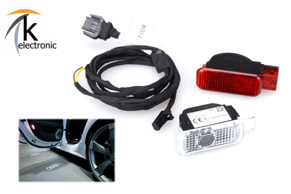 AUDI Q2 GA Türbeleuchtung AUDI Ringe Ausstiegsbeleuchtung Nachrüstpaket