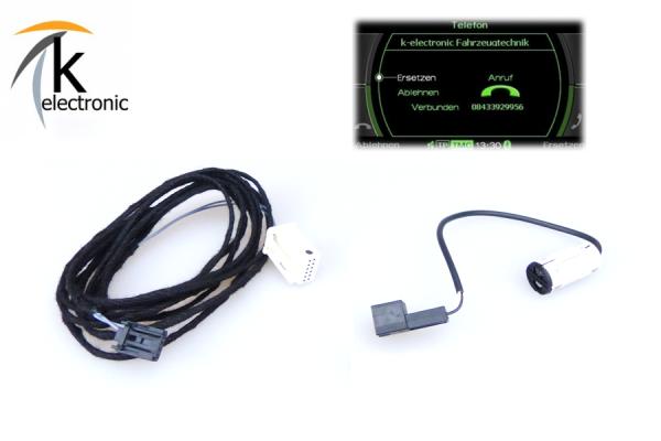 AUDI A5 8F Bluetooth Freisprecheinrichtung Mikrofon + Kabelsatz