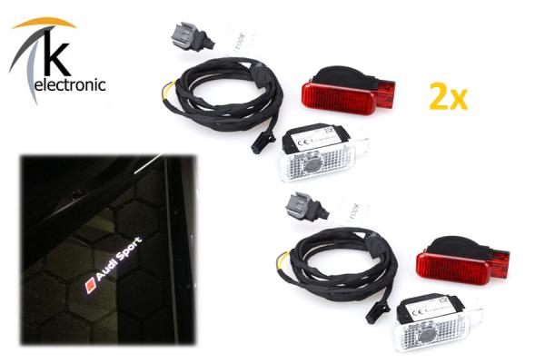 AUDI Q5 8R Türbeleuchtung RS Sport Logo Ausstiegsbeleuchtung Nachrüstpaket li+re