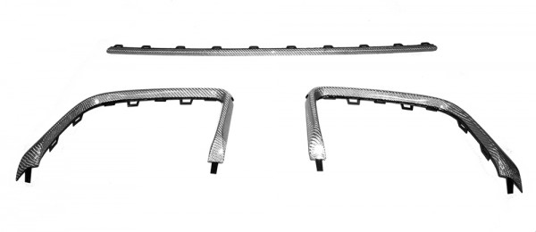 Audi RS3 8V Alutex Designgewebe Diffusor Zierleisten