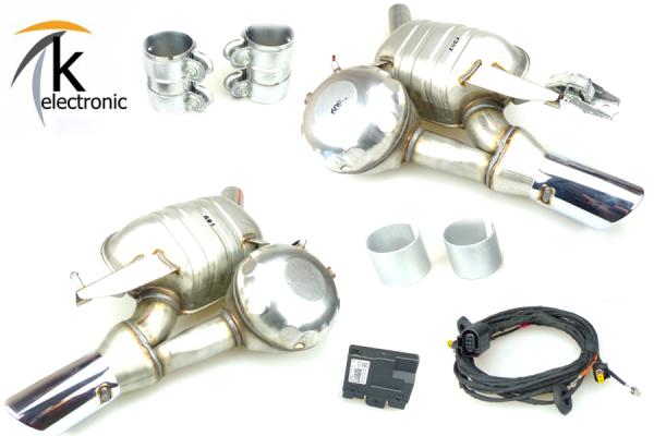 AUDI A7 4G Bi-Turbo aktive Abgasanlage / AGA / Bi-TDI Nachrüstpaket