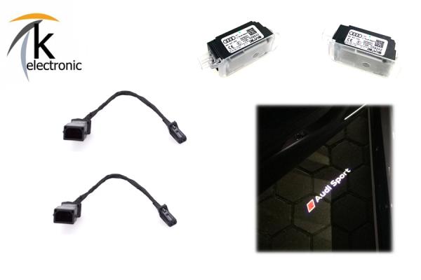 AUDI A5 8T 8F Umbausatz auf AUDI SPORT / RS LED für Türbeleuchtung