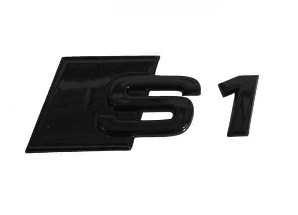 Audi S1 Schriftzug hinten, schwarz glänzend