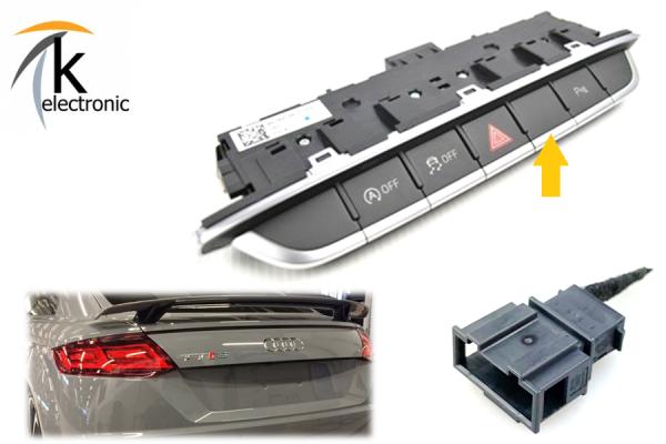 AUDI TT 8S Heckspoiler Deaktivier-Adapter / elektrischer Spoiler auf festen RS Spoiler