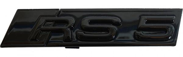 """Audi Schriftzug """"RS 5"""" schwarz glänzend für Kühlergrill"""
