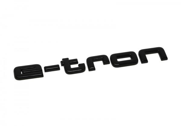 """Audi Schriftzug """"etron"""" schwarz glänzend für Gepäckraumklappe"""