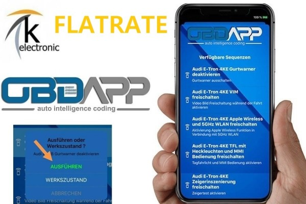 AUDI Q2 GA Codier-Flatrate Zusatzfunktionen freischalten OBDAPP