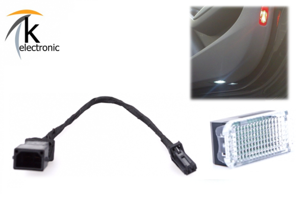 AUDI TT 8J Türbeleuchtung unten Halogen - LED-Umbaupaket