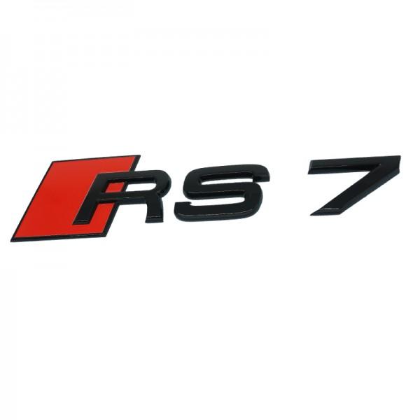 """Audi Schriftzug """"RS7"""" schwarz glänzend für Gepäckraumklappe"""