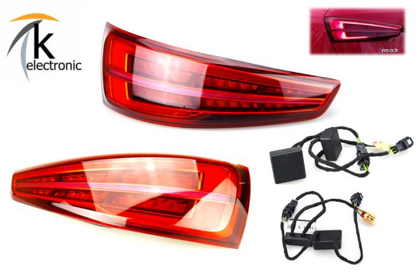 AUDI Q3 8U LED-Heckleuchten Facelift dynamischer Blinker Nachrüstpaket