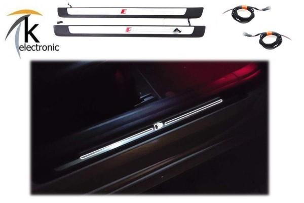 AUDI A4 B9 8W beleuchtete Einstiegsleisten mit S-line Logo Nachrüstpaket