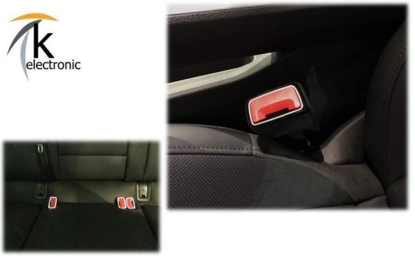 AUDI A7 4K beleuchtete LED-Gurtschnallen Gurtschlösser Nachrüstpaket