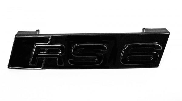"""Audi Emblem """"RS 6"""" schwarz glänzend für Kühlergrill"""