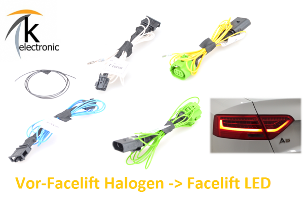 AUDI A5 8T 8F Facelift LED-Rückleuchten / Heckleuchten Adapter VFL Halogen > FL LED