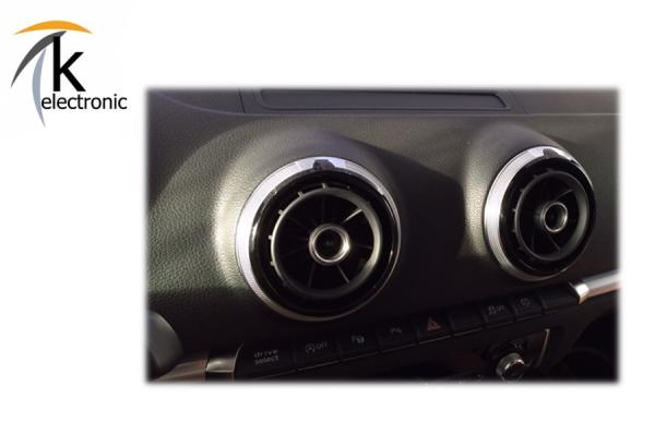 AUDI A3 8V Lüftungsdüse klavierlack-schwarz / Aluminium