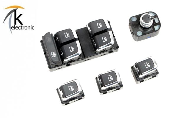 AUDI Q2 GA Innenraum Tasten Chrom / Fensterheber Parkbremse usw. Umrüstpaket