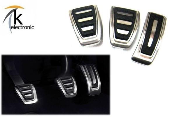 AUDI A5 F5 B9 Pedalkappen Edelstahl Bremse + Gas Handschalter